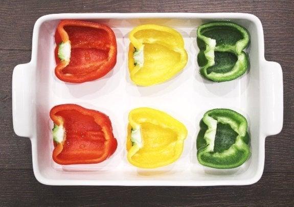 Preparing Low-Carb Italian Stuffed Peppers
