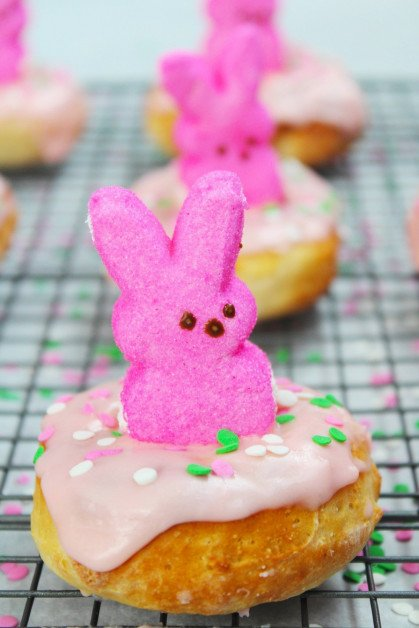 Air Fryer Easter Bunny Donuts