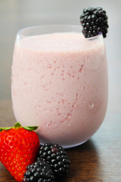 Fruit Smoothie with Berries for Breakfast