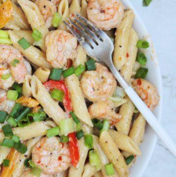 Jerk Shrimp Rasta Pasta