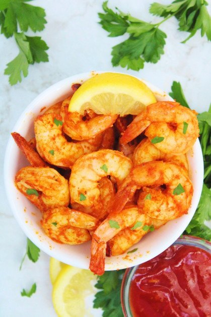 Prawns Air Fried with Old Bay Seasoning
