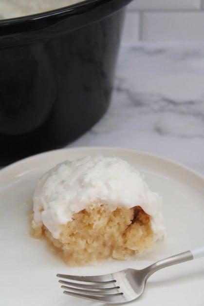 Crockpot coconut cream cake