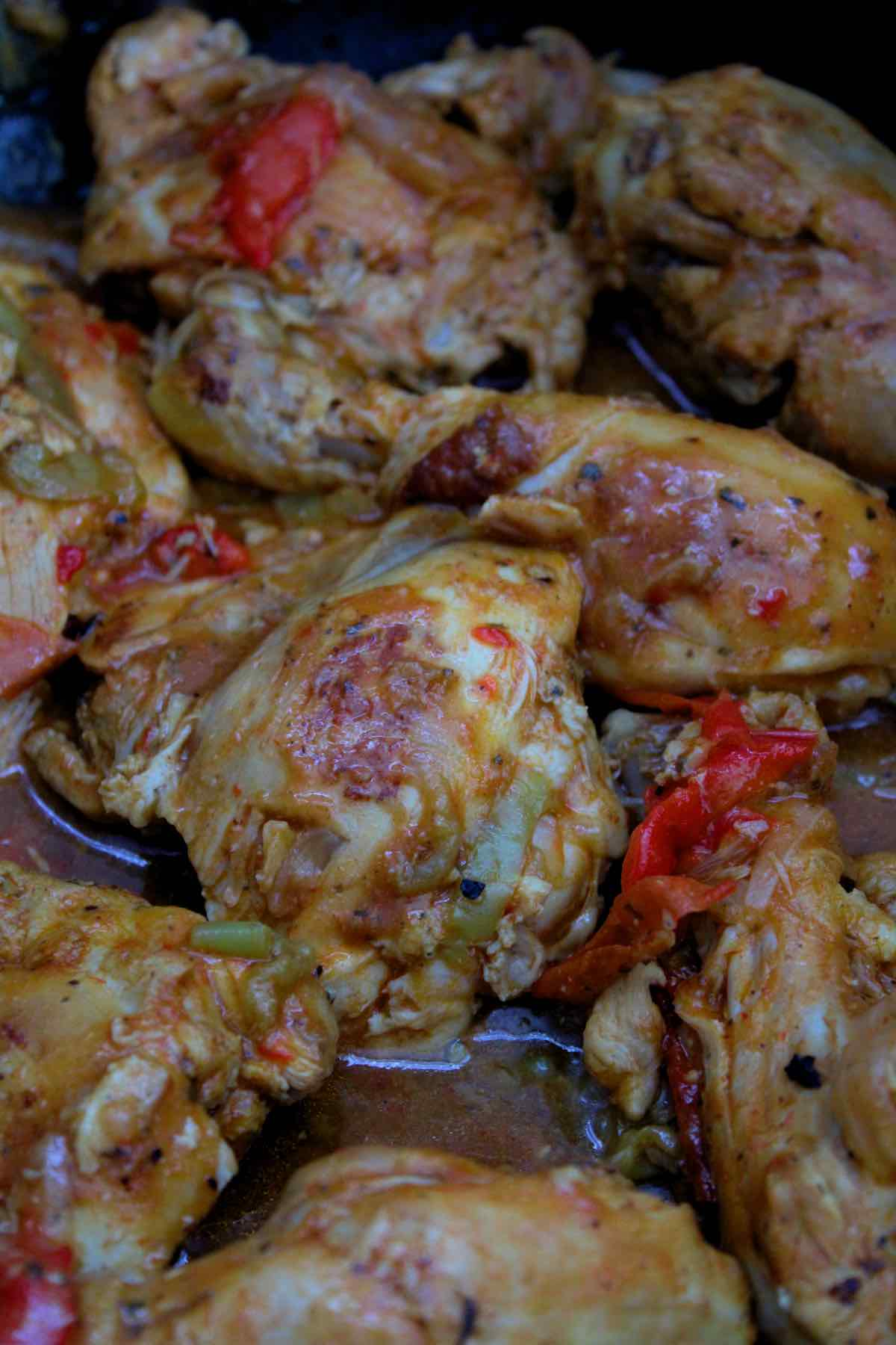 Chicken stew recipe traditionally from the Dominican Republic.