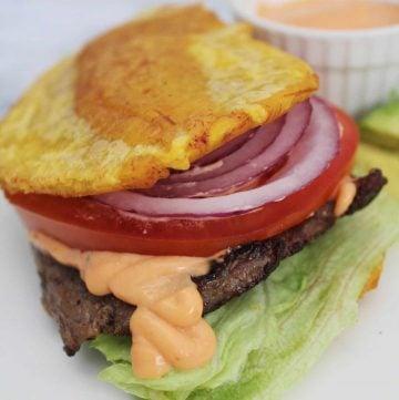Jibarito plantain sandwich