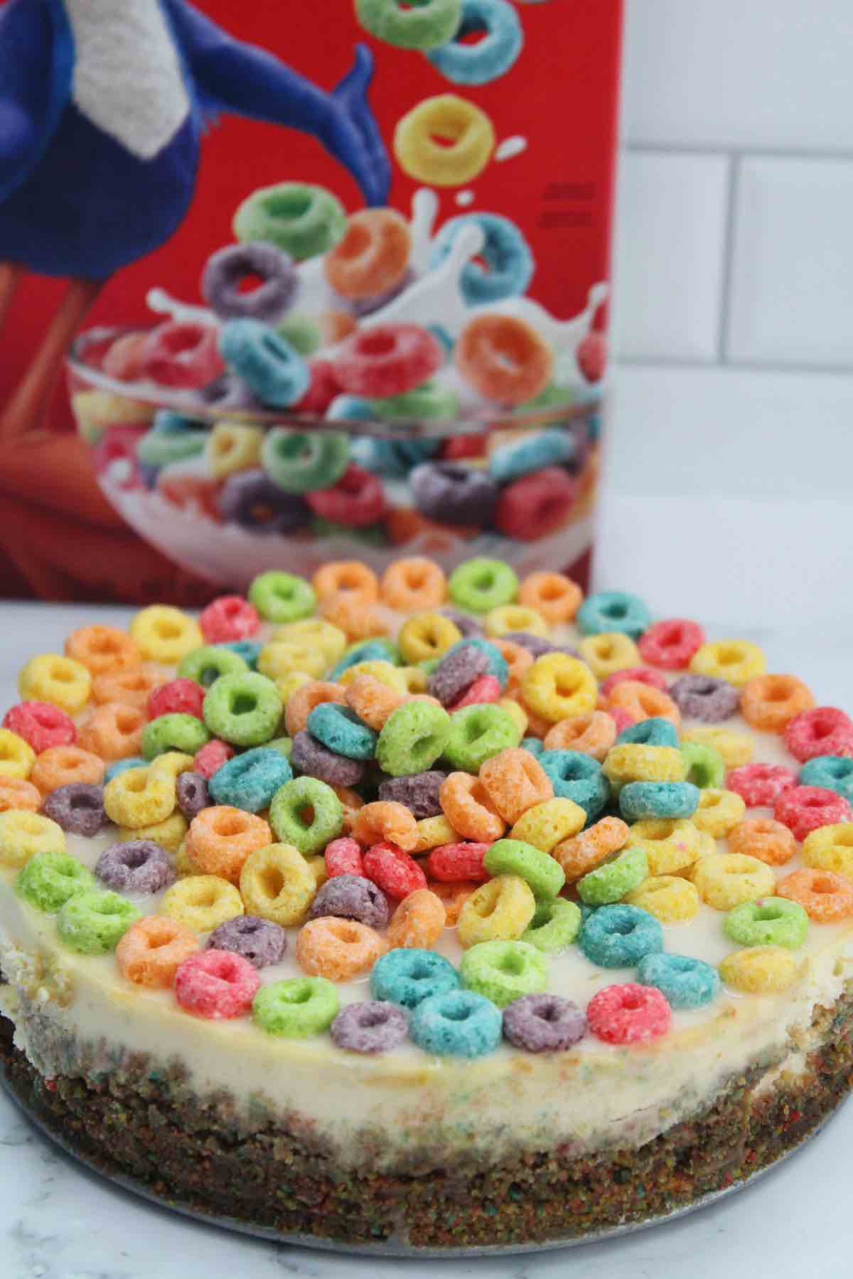instant pot Froot Loops cereal cheesecake