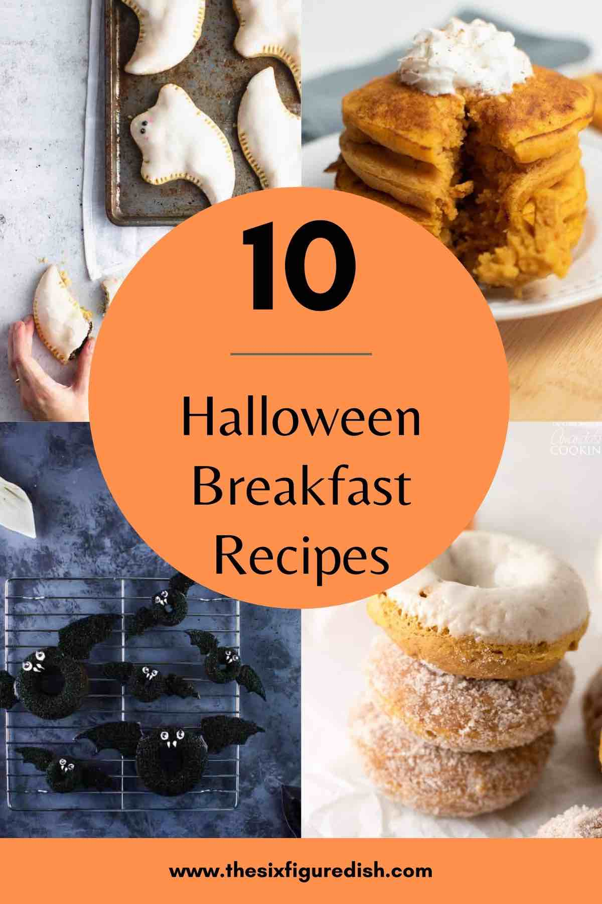 10 Halloween breakfast recipes round up collection.