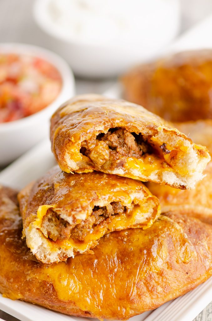 Spice up your weeknights with these air fried taco calzones.
