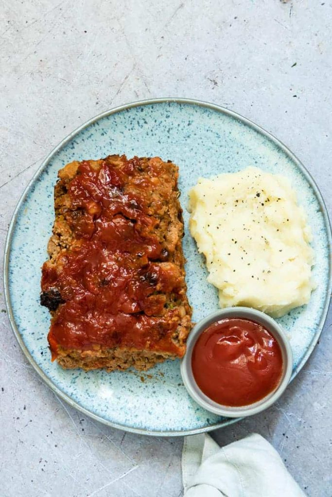Classic recipe for meatloaf made in the air fryer.