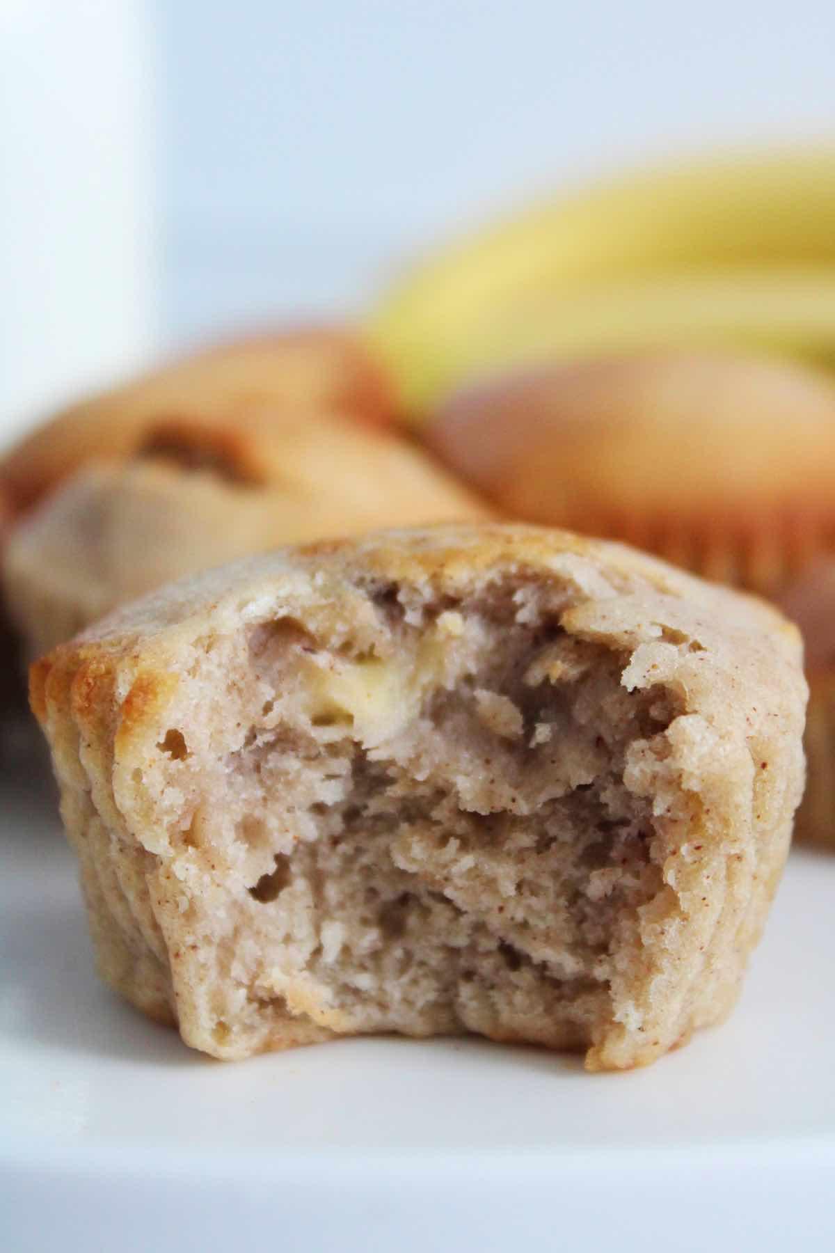 Air fried banana bread muffins