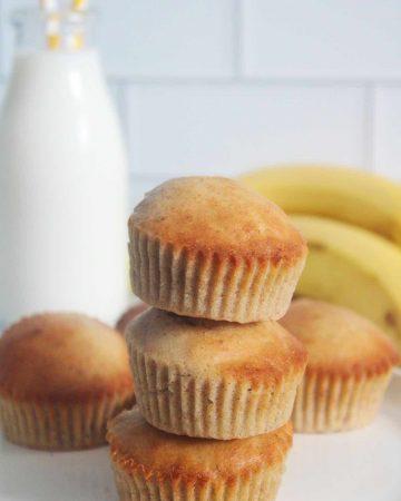 air fryer banana muffins recipe