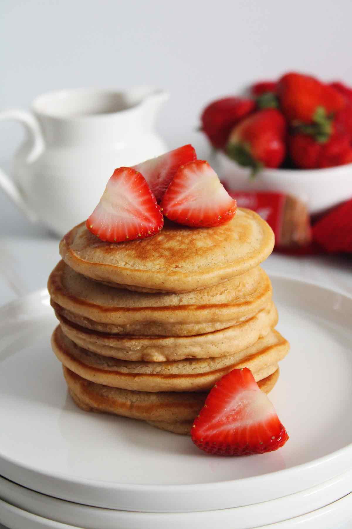 Pancakes made with buttermilk for breakfast.
