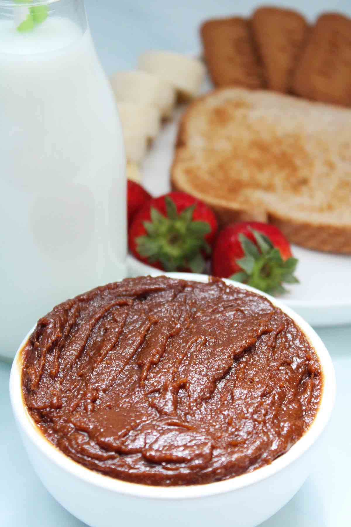 Homemade biscoff cookie spread