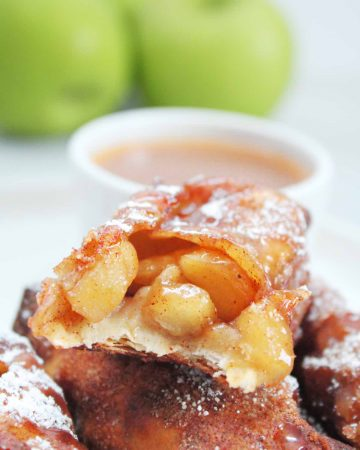 air fryer apple pie egg rolls