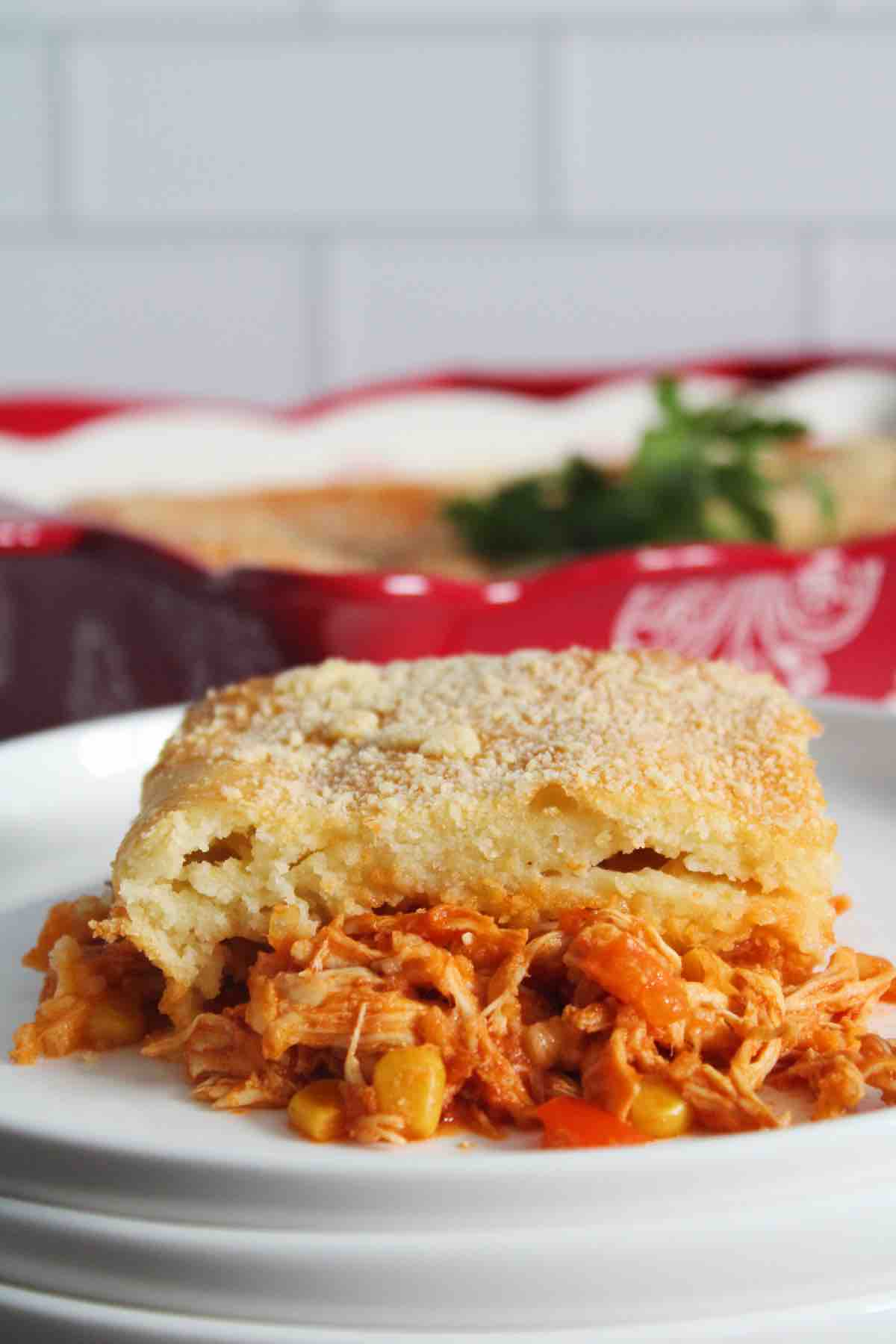 Brazilian chicken style pie is relatively cheap to make and very filling.