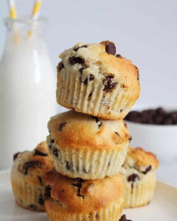 air fryer chocolate chip muffins recipe