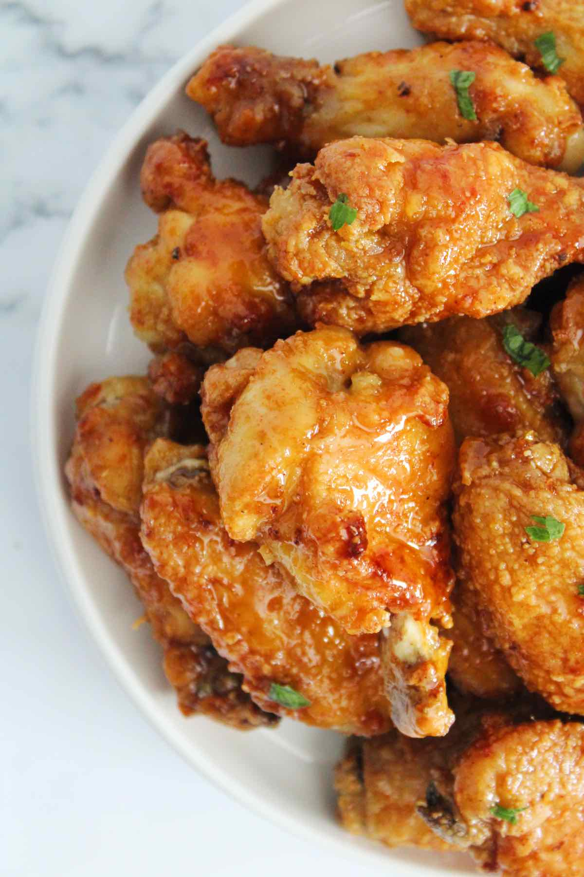air fried honey garlic chicken wings
