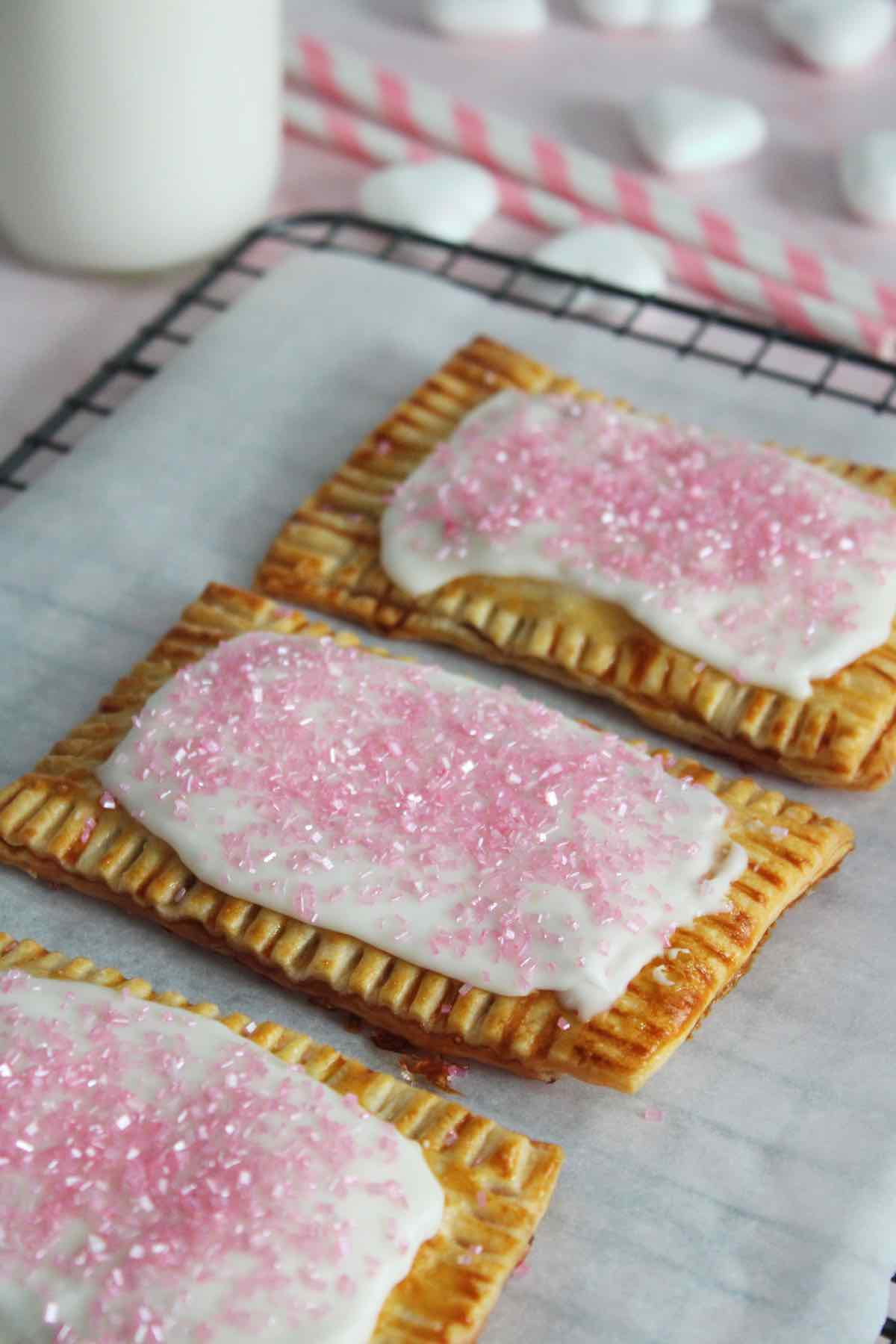 Homemade strawberry pop tarts recipe made with store bought pie crust.