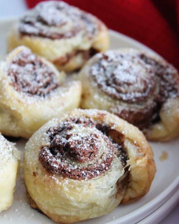 nutella puff pastry pinwheels recipe