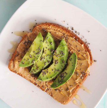 avocado peanut butter toast